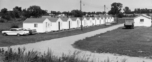 Green Bay Food Company migrant worker's village, 1966. Image courtesy of the Wisconsin Historical Society, Image ID: 91131.
