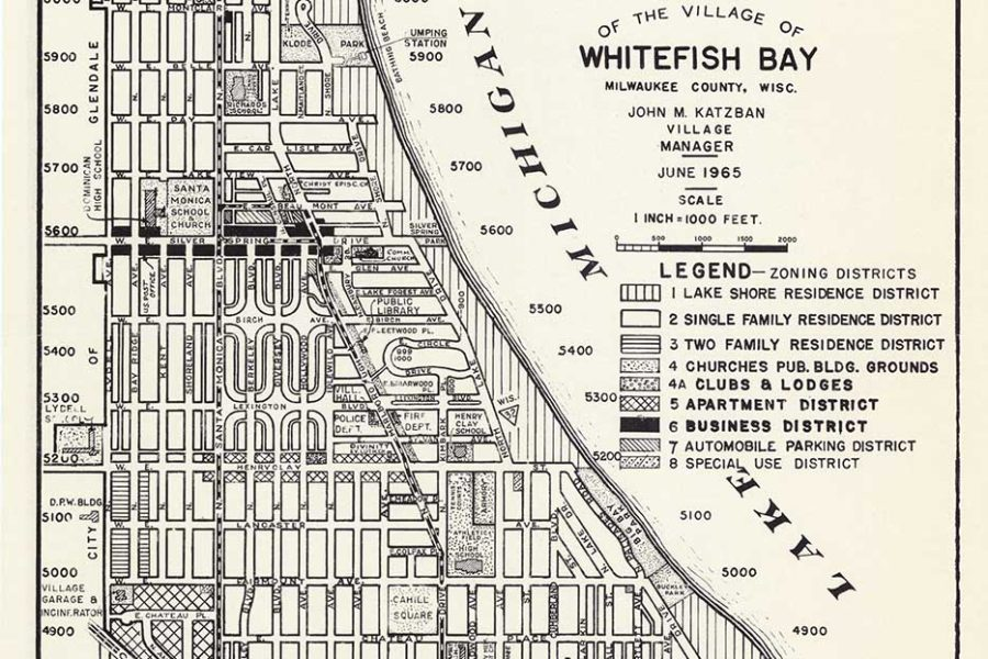 Whitefish Bay Suburb (Image courtesy of the Wisconsin Historical Society).