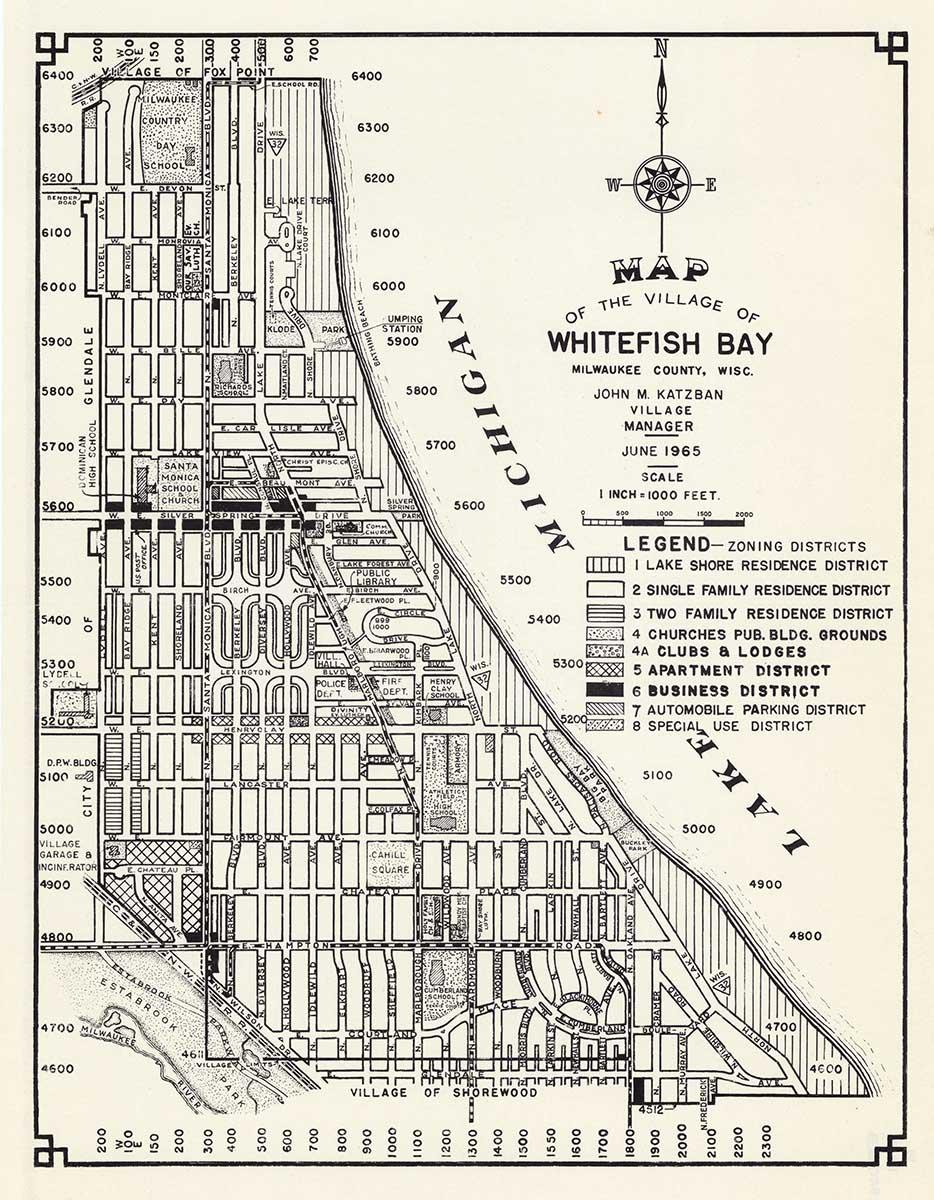 Whitefish Bay Suburb (Image courtesy of the Wisconsin Historical Society).