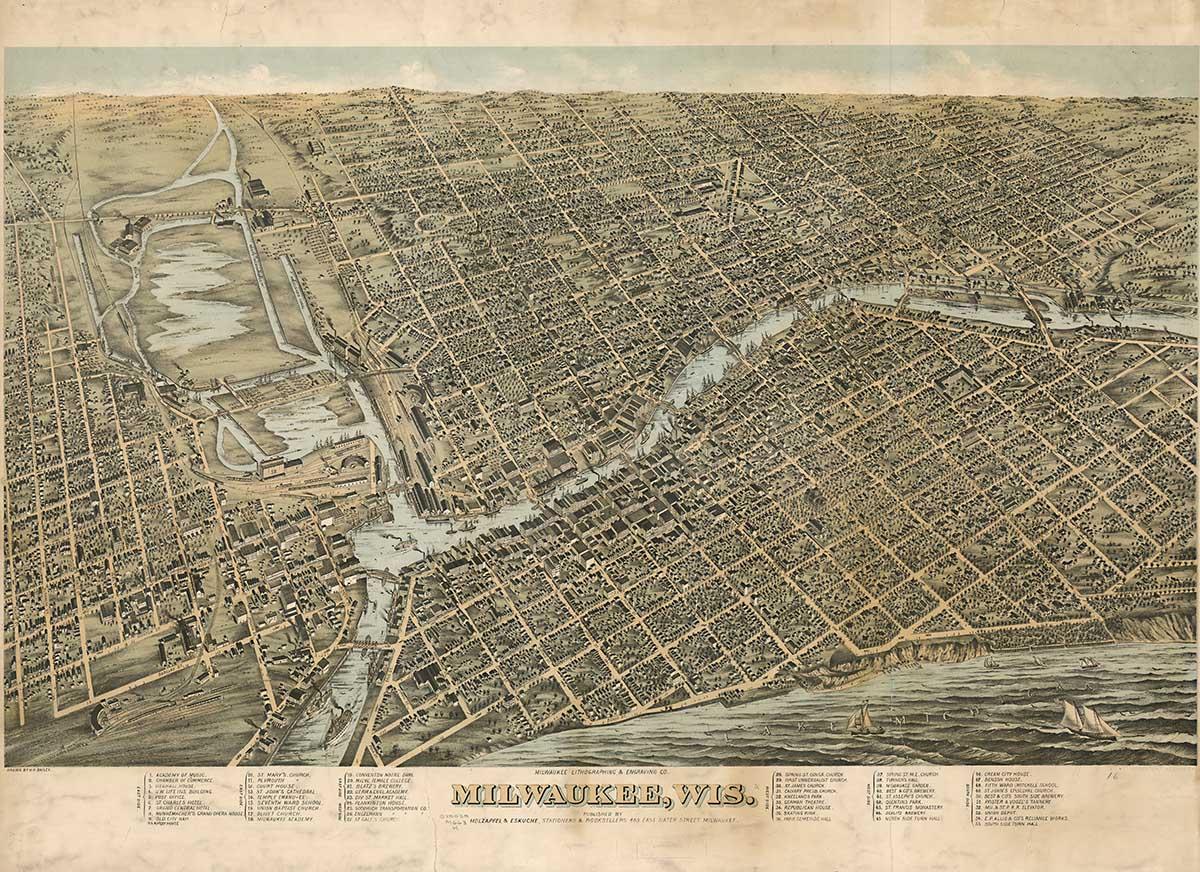 Milwaukee, 1872 (Image courtesy of the Wisconsin Historical Society).
