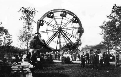 Whitefish Bay Pabst Resort ferris wheel (Image courtesy of the Whitefish Bay Historical Society).