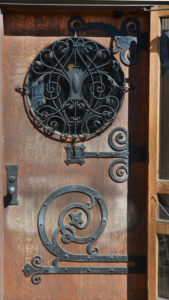The Wilson Place door in Menomonie, Wisconsin. Photograph courtesy of Wilson Place Mansion.