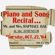 Piano and Song Recital Poster