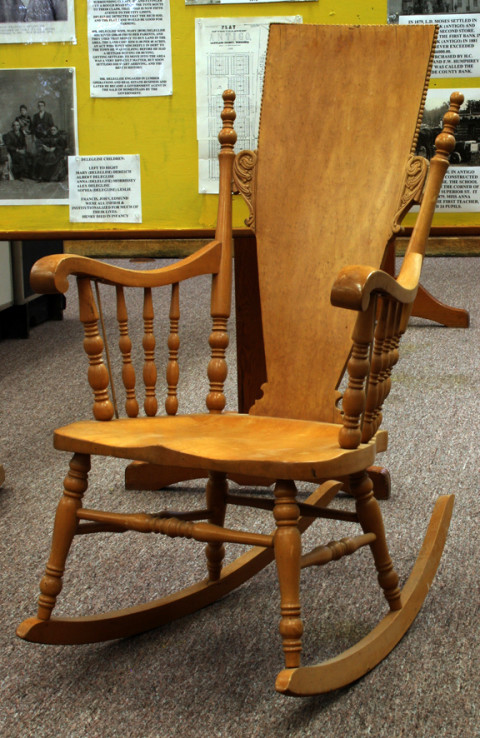 A Crocker Chair. In the early 20th century, the Crocker Chair Company was a major Antigo wood products manufacturer. Click to enlarge.