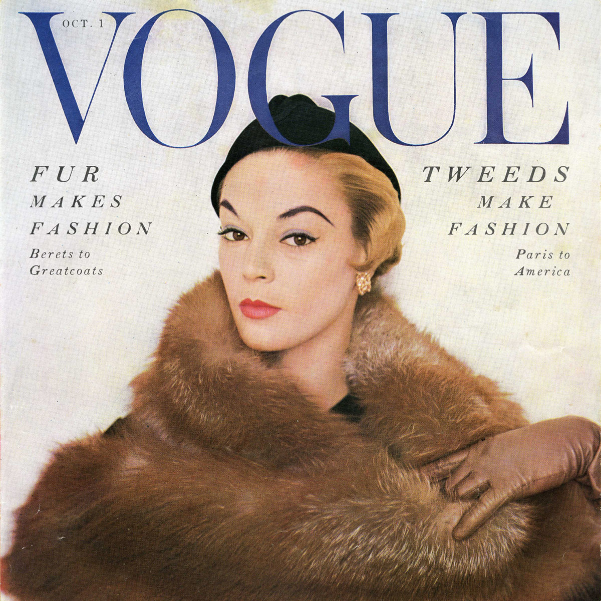 The history of fur and fashion runs deep in North America. October 1953 issue of Vogue.