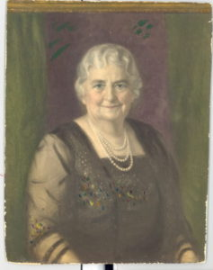 Oil, canvas portrait of Lizzie Black Kander. Painted by John Doctoroff in 1931. Photo courtesy of the Jewish Museum Milwaukee