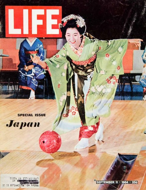 Bowling featured on this 1964 cover of a special issue of Life Magazine devoted to Japan. Click to enlarge.
