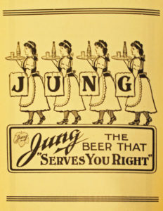 An advertisement for the Jung Brewery that was printed in the 2nd ed. of The Settlement Cook Book. Image courtesy of the Milwaukee Public Library.