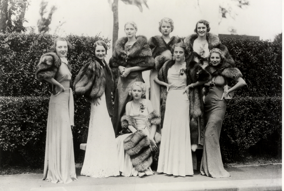 Women modeling various types of Fromm fur coats and the ways they can be worn, 1930s. Photograph courtesy of the Marathon County Historical Society.