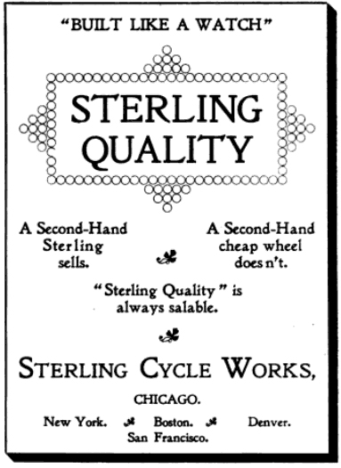 Sterling Cycle Works advertisement, ca. 1897.