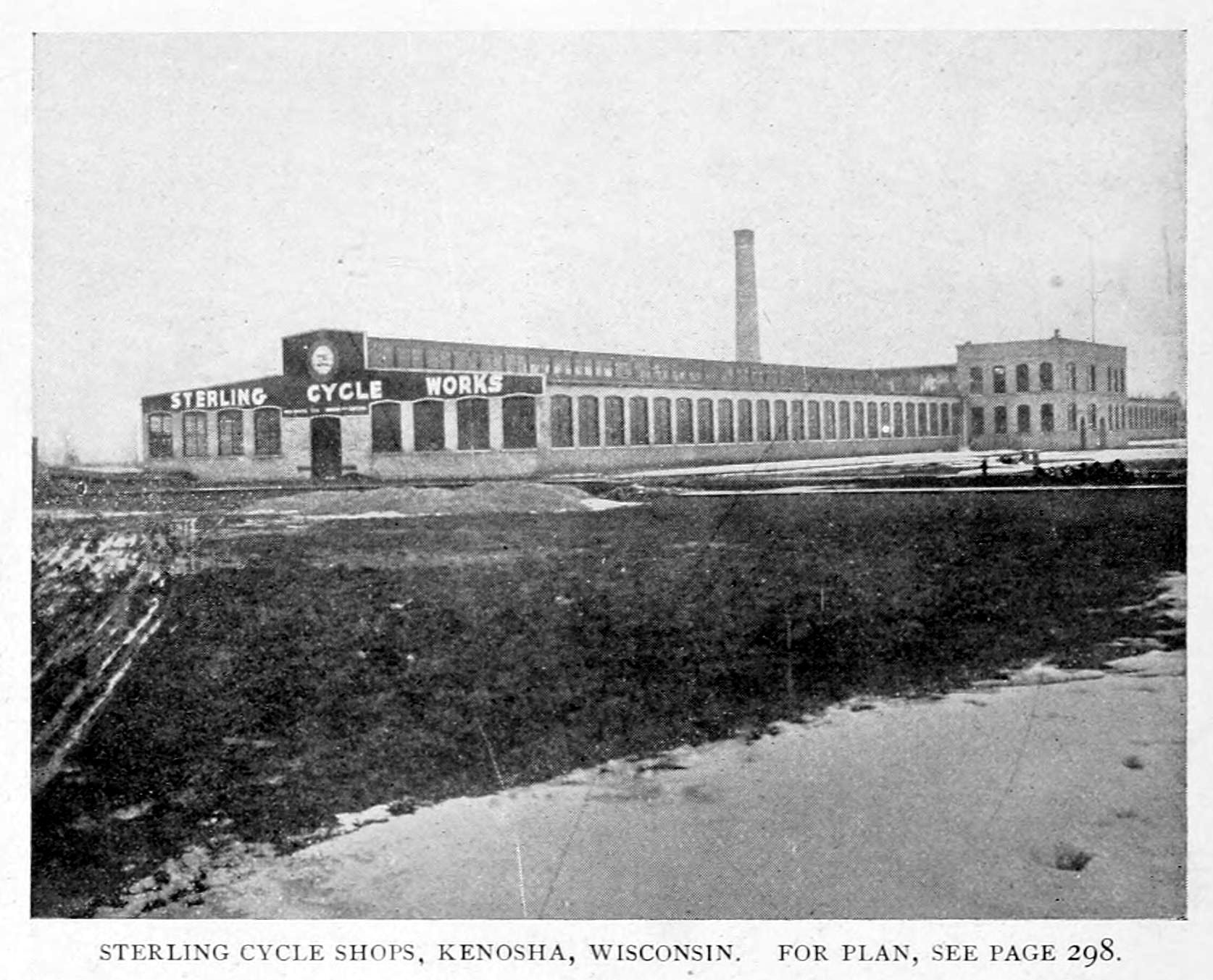 Sterling Cycle Shops, Kenosha, Wisconsin, 1896.