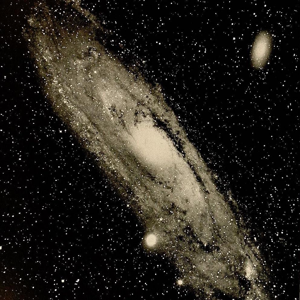 An image of a nebula taken by the Yerkes Telescope