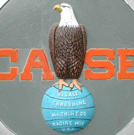 detail of Old Abe on the Case Company logo