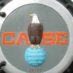 Picture of Old Abe, the eagle, on the Case company logo
