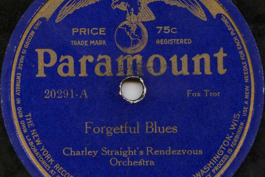 Image of a blue covered paramount record of the song