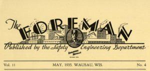 A portion of a foreman's newsletter