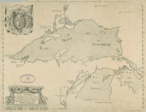 A detailed early French map of Lake Superior