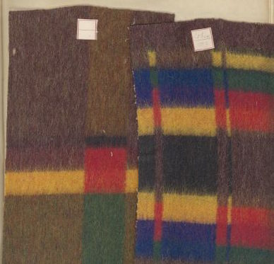 woolen fabric samples from the Appleton Mills