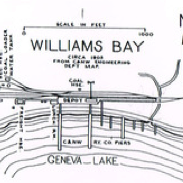 A map of Williams Bay, Wisconsin.