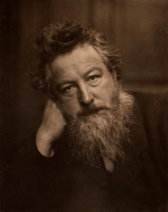 A portrait of William Morris c. 1887.