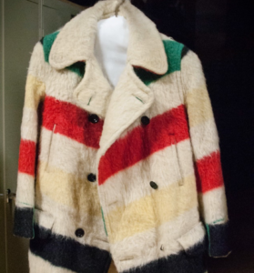 A picture of the point blanket coat Jack Burt brought back for Emelie.