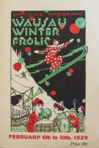 Color printed poster for the Wausau Winter Frolic