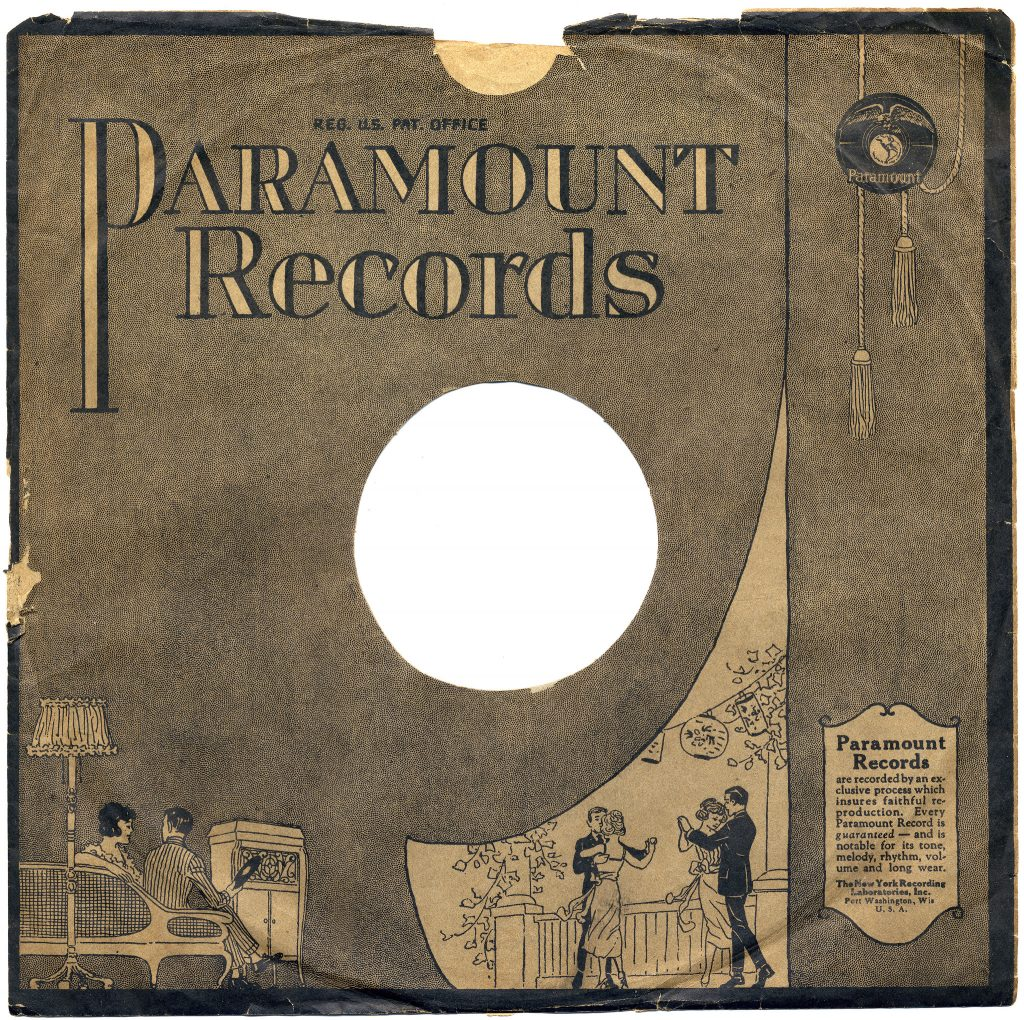 Paramount record cover showing several dancing figures in the bottom right corner