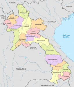 A map of Loas
