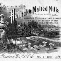 An advertisement for Horlicks Food Company from 1895