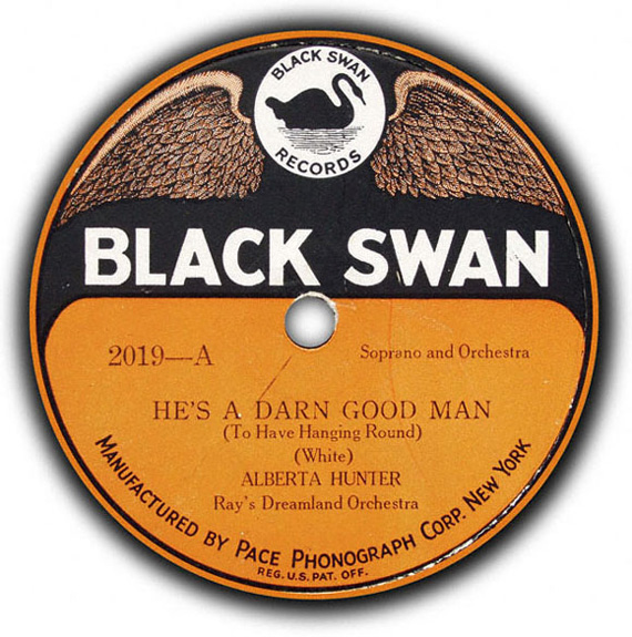 Record cover from a Black Swan album titled He's a Darn Good Man