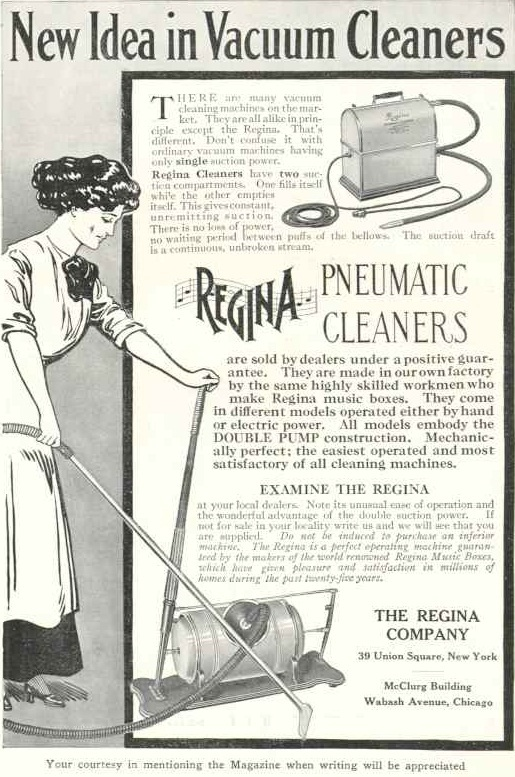 advertisement for a hand-powered vacuum
