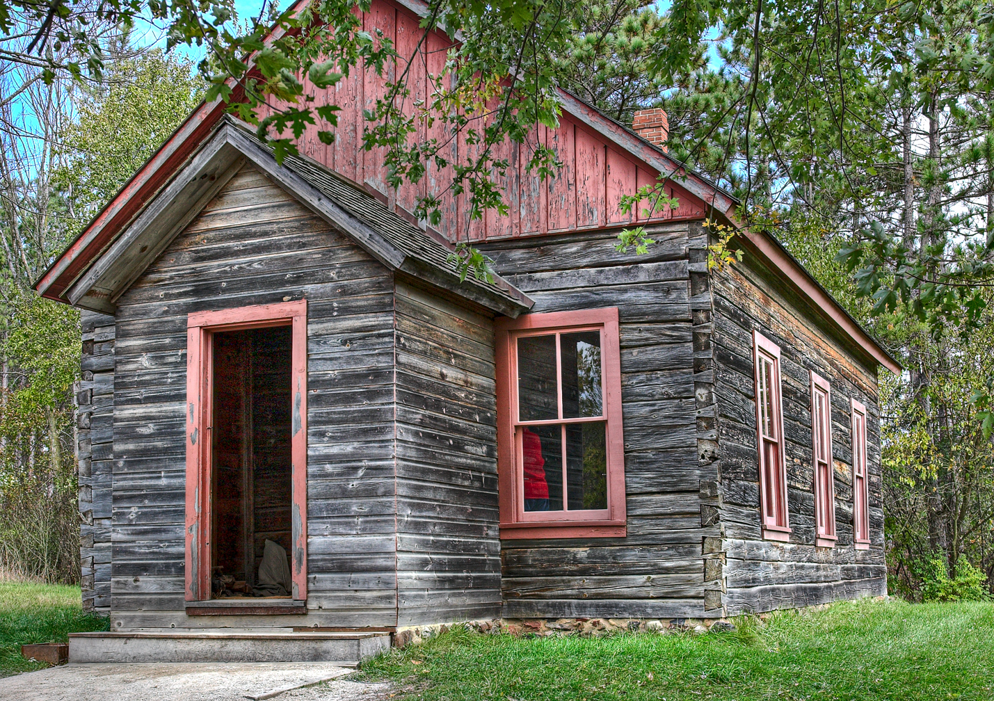 An image of the raspberry school at Old World Wisconsin