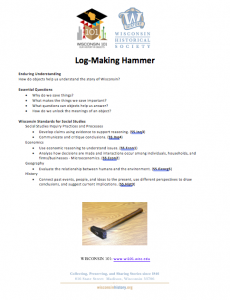 Image of the log marking hammer lesson plan