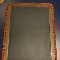 a photo of a slate tablet
